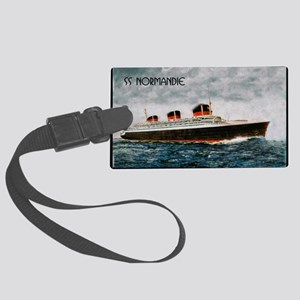 SS Normandie Large Luggage Tag