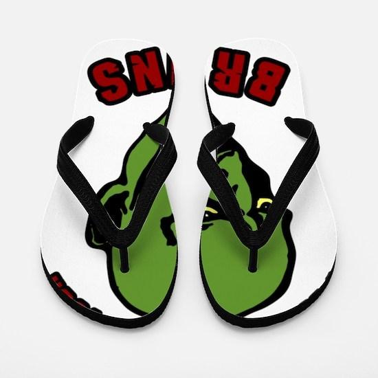 Zombie valentines Flip Flops