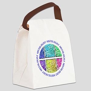 histologist circle blue Canvas Lunch Bag