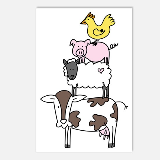 Farm Pyramid Postcards (Package of 8)