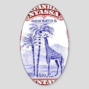 Antique 1921 Nyassa Company Giraffe Sticker (Oval)