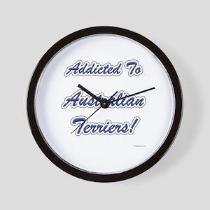 Australian Terrier Addicted Wall Clock