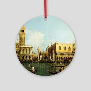 Canaletto The Pier Round Ornament
