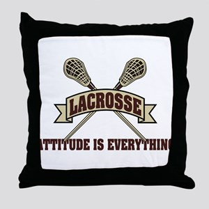 Lacrosse Attitude Is Everything Throw Pillow