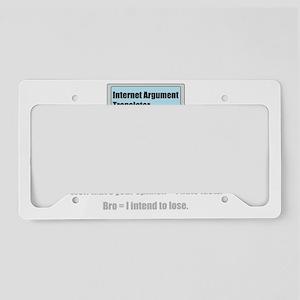 Internet Argument Translator License Plate Holder