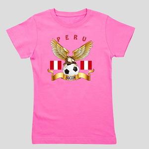 Peru Football Designs Girl's Tee