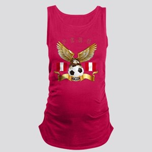 Peru Football Designs Maternity Tank Top