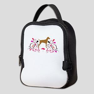 scrollpinkshzVBACK Neoprene Lunch Bag