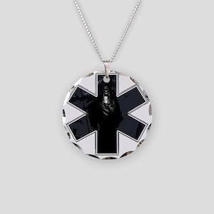 Demon EMS Necklace Circle Charm