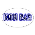 The Icon Bar Oval Sticker