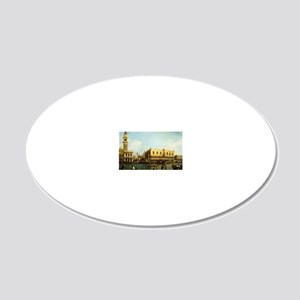 Canaletto The Pier 20x12 Oval Wall Decal
