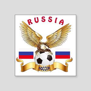 """Russia Football Designs Square Sticker 3"""" x 3"""""""