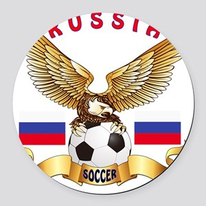 Russia Football Designs Round Car Magnet
