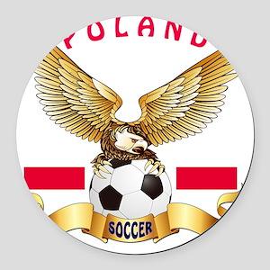 Poland Football Designs Round Car Magnet