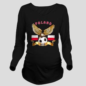 Poland Football Desi Long Sleeve Maternity T-Shirt