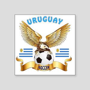 """Uruguay Football Designs Square Sticker 3"""" x 3"""""""