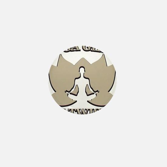Witty Yoga Mini Button