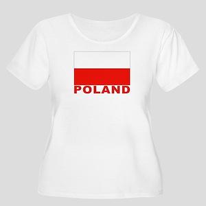 Poland Flag Women's Plus Size Scoop Neck T-Shirt