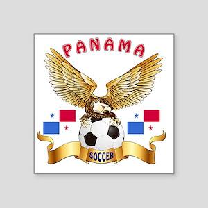 "Panama Football Designs Square Sticker 3"" x 3"""