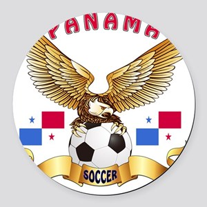 Panama Football Designs Round Car Magnet