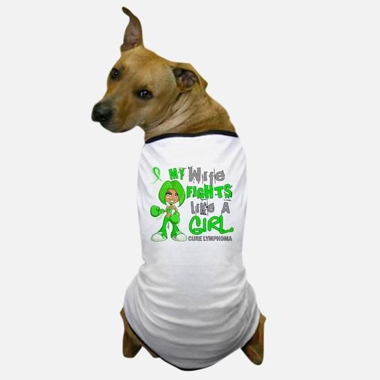 D Wife Fights Like Girl Lymphoma 42.9 Dog T-Shirt