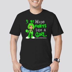 D Wife Fights Like Gir Men's Fitted T-Shirt (dark)