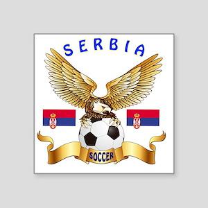 """Serbia Football Designs Square Sticker 3"""" x 3"""""""
