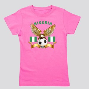 Nigeria Football Designs Girl's Tee