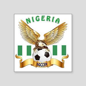 "Nigeria Football Designs Square Sticker 3"" x 3"""