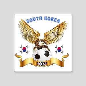 """South Korea Football Design Square Sticker 3"""" x 3"""""""