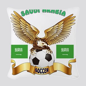 Saudi Arabia Football Designs Woven Throw Pillow