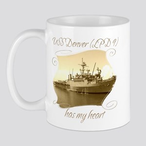 USS Denver (LPD 9) Mugs