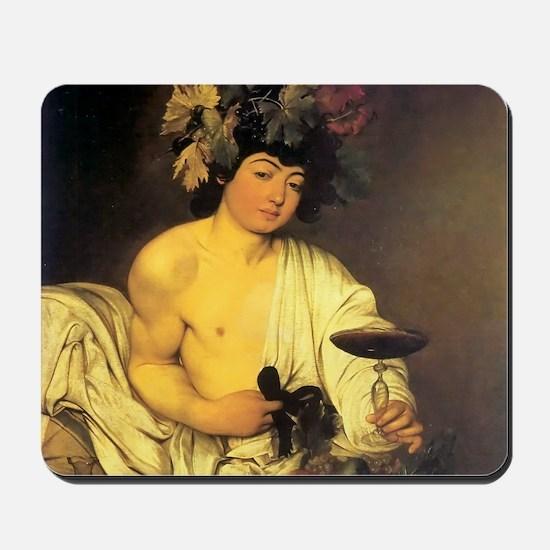 Caravaggio The Young Bacchus Mousepad