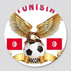 Tunisia Football Designs Round Car Magnet