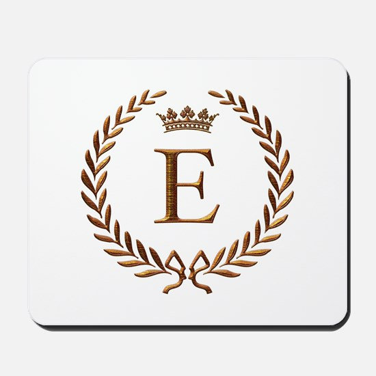 Napoleon initial letter E monogram Mousepad