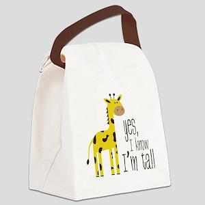 Im Tall Canvas Lunch Bag