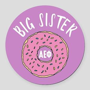 Alpha Epsilon Phi Big Donut Round Car Magnet