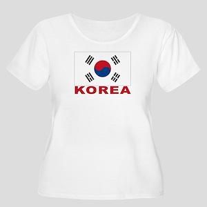 South Korea Flag Women's Plus Size Scoop Neck T-Sh