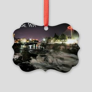 Spokane Falls 1 Picture Ornament
