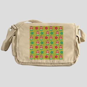 Matryoshka Duvet Cover Messenger Bag