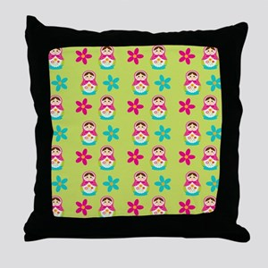 Matryoshka Duvet Cover Throw Pillow