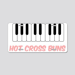Hot Cross Buns Piano Aluminum License Plate