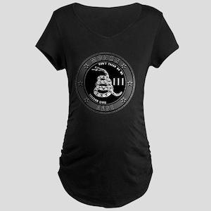 Dont Tread On Me! Maternity Dark T-Shirt