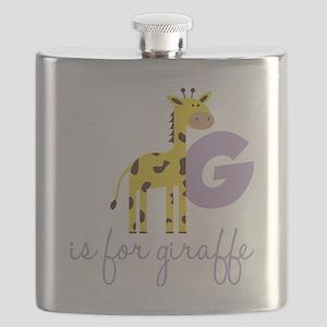 G Is For Giraffe Flask