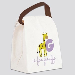 G Is For Giraffe Canvas Lunch Bag