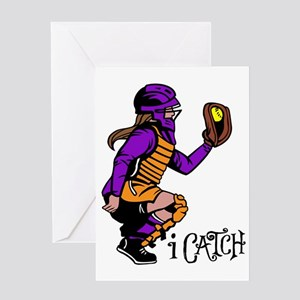 purple iCatch Greeting Card