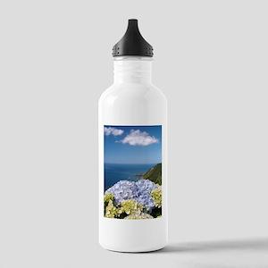 Hydrangeas on blue Stainless Water Bottle 1.0L