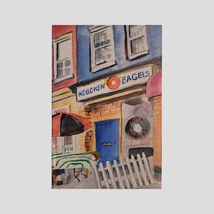 Hoboken Bagels Rectangle Magnet