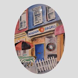 Hoboken Bagels Oval Ornament
