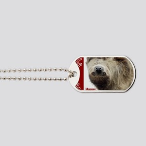 Sloth Valentine Card Dog Tags
